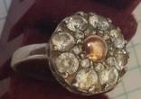 Кольцо с вставками, серебро 925, фото №2