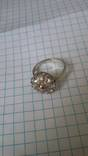 Кольцо с вставками, серебро 925, фото №3