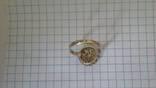 Кольцо с вставками, серебро 925, фото №5