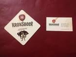 "Бирдекель ""Kronsbeer"" + визитка ""Kronsbeer"", фото №2"