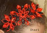 Украшение - ободок для волос Красно черный, фото №2