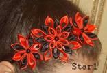 Украшение - ободок для волос Красно черный, фото №3
