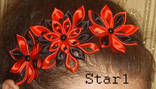 Украшение - ободок для волос Красно черный, фото №4