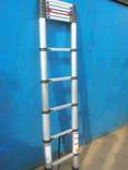 Телескопическая алюминиевая лестница. photo 3