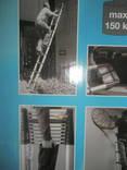 Телескопическая алюминиевая лестница. photo 8