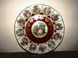 Тарелка коллекционная в стиле Fragonard роспись золочение ручная работа Bavaria Германия