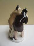 Бобчинский и Добчинский. Фарфор, роспись. СССР, ЛФЗ, 1950-е гг photo 3