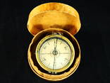 Старинный компас, латунный. Модель. арт. тех. М.И.Семенова. photo 2