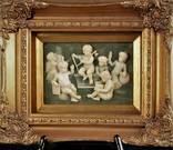 Рельеф картина рельефная картинка ангел оркестр рама