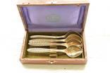 Кофейные ложки 4шт.позолота,серебро 916 вес105грамм