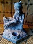Старинная чернильница медведь (мрамор).