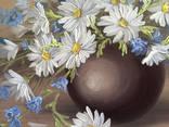 Картина Ромашки и колокольчики, 25х30 см. живопись на холсте, оригинал, с подписью автора photo 2