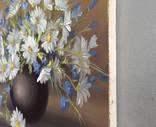 Картина Ромашки и колокольчики, 25х30 см. живопись на холсте, оригинал, с подписью автора photo 4