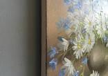 Картина Ромашки и колокольчики, 25х30 см. живопись на холсте, оригинал, с подписью автора photo 5