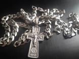 Серебряная цепочка и хрестик