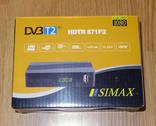 Эфирный цифровой приемник DVB-T/T2 SIMAX HDTR 871F2 с функцией записи