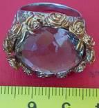 Перстень с натуральным раухтопазом., фото №3