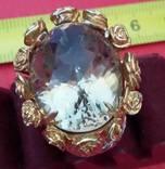 Перстень с натуральным раухтопазом., фото №6