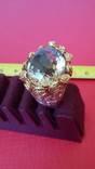Перстень с натуральным раухтопазом., фото №8