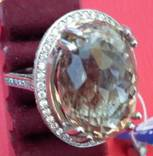 Кольцо с раухтопазом, фото №9