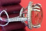 Кольцо с раухтопазом, фото №12