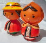 """Куклы-игрушки """"Гуцул"""" и """"Гуцулка"""", клеймо (Ровно, """"Ровенчанка""""), СССР, ц 77 к"""