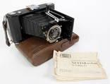 Zeiss Ikon Nettar 515/2. Объектив Novar Anastigmat 105 мм f/6,3. Германия.
