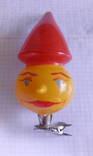 Елочная игрушка буратино на прищепке