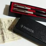 Набор PARKER , ручка перьевая + авторучка , в родной коробке с документом.