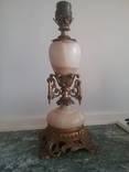 Старинная настольная лампа оникс,бронза