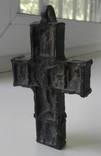 Большой бронзовый крест с ликами святых