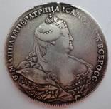 Рубль 1737 г. Штемпель работы Карла Иогана Гедлингера в исполнении Л. Дмитриева. R2