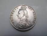 1/2 Кроны 1887 года,Королева Виктория, Великобритания.