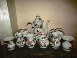 Сервиз на 6 персон цветочная роспись + вазы + подсвечники клеймо Mitterteich Германия