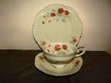 Антикварное Чайное трио чашка блюдце тарелка клеймо Seltmann Weiden Германия