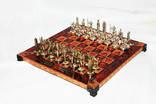 Коллекционные шахматы Marinakis bros. Латунь покрытие. Доска сталь с покрытием
