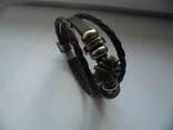 Жіночий шкіряний браслет photo 1