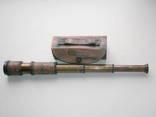 Подзорная труба Dollond London в кожаном футляре. Новая. Копия photo 1