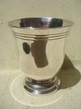 Стопка-тюльпан на 100 мл, серебро 950-й пробы, 80 грамм, Франция