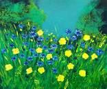 Цветущая поляна (картина масло/холст)