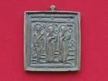 Икона Избранные святые: Георгий, Власий и Антипа.