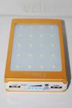 POWER BANK ELITE lux LED панель, фонарик ,солнечная батарея 30000 мАч( цвет чёрный) photo 6