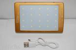 POWER BANK ELITE lux LED панель, фонарик ,солнечная батарея 30000 мАч( цвет чёрный) photo 10