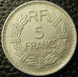 5 франків Франція 1947 (відкрита 9), фото №2