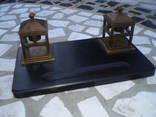 Чернильный прибор старинный 5.3 кг бронза гранит