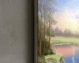 Картина Вечер у реки, 25х30 см. живопись на холсте, оригинал, с подписью photo 5