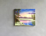 Картина Вечер у реки, 25х30 см. живопись на холсте, оригинал, с подписью photo 6