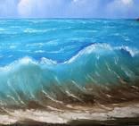 """Картина """"Море волнуется"""", холст, масло, 30*40. Ручная работа. photo 2"""
