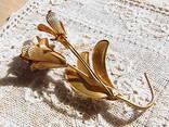 Брошь ''Винтажный цветок''., фото №4