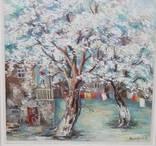 Картина городской дворик. 650 на 500 мм. худ. Сарибекян Гульнара